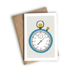 stopwatch greeting card